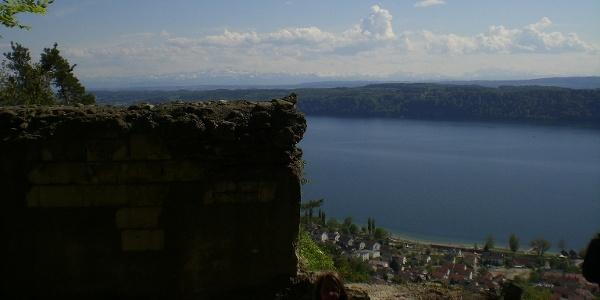 bei der Ruine Hohenfels Blick auf Sipplingen