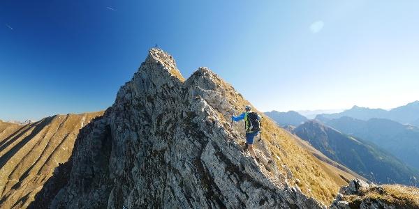 Bergtour im Lechtal: Pfeilspitze Überschreitung