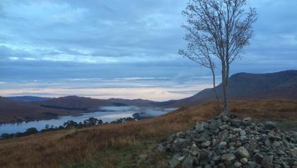 Sunrise Above Loch Tulla in Inveroran