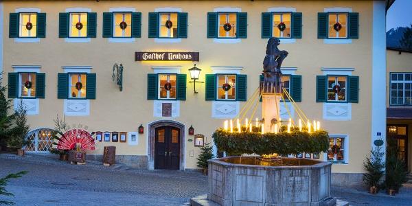 <![CDATA[Advent in Berchtesgaden vor dem Neuhaus]]>