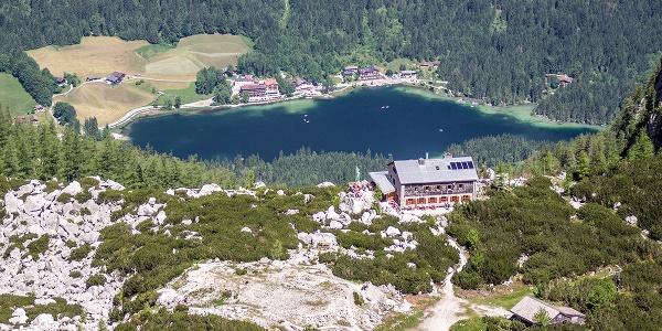 Die Blaueishütte oberhalb des Hintersees