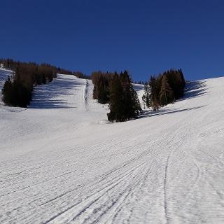 Im Skigebiet noch viel Schnee