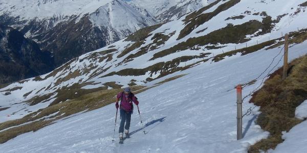 auf der Schareck Skiroute