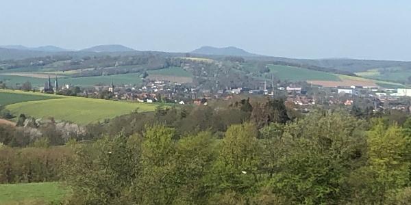 Blick Richtung Göttingen/Gleichen