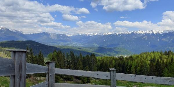 Berge Richtung Val di Fiemme
