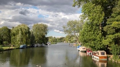 River Thames as you walk into Goring