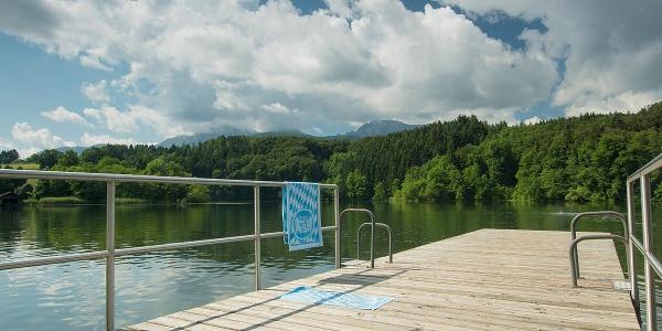 Steg am Höglwörther See