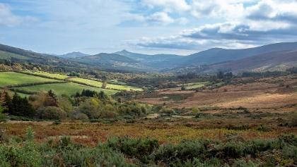 Walking through Glencree Valley