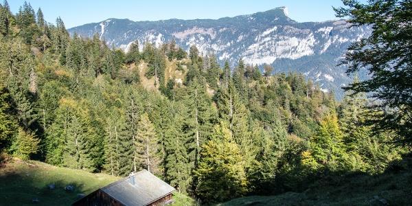 Die Mitterkaser Alm im Lattengebirge