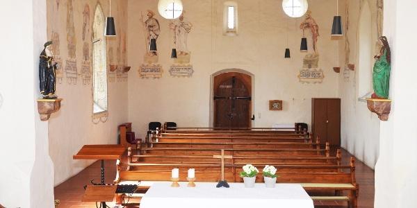Weingartenkapelle Frickingen, Innenansicht