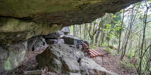Der versteckte Picknickplatz unterhalb der Kleinen Bastei