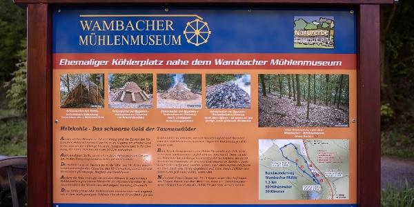 Informationstafel zur Köhlerei