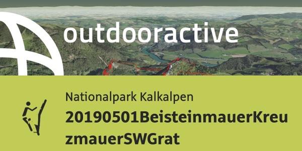 Klettersteig in den Oberösterreichischen Voralpen: 20190501BeisteinmauerKreuzmauerSWGrat