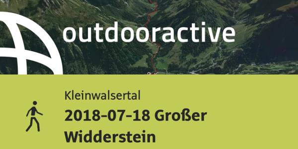Wanderung im Kleinwalsertal: 2018-07-18 Großer Widderstein