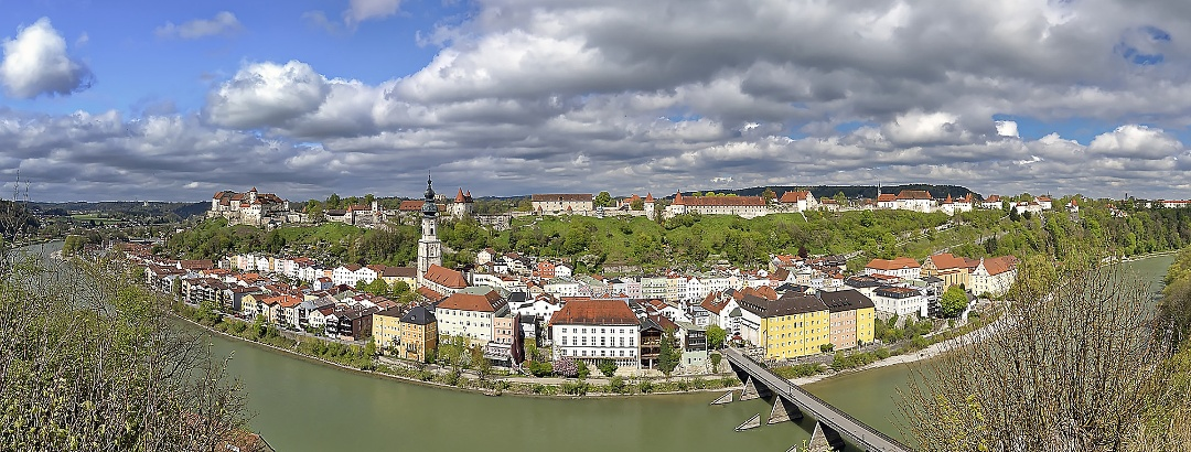 Blick von Österreich auf die Altstadt