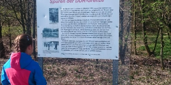 Interessante Spuren der DDR-Grenze
