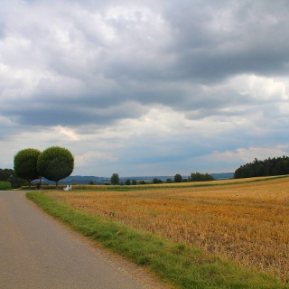 Weiter Blick auf die Landschaft