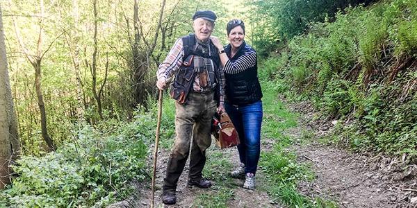 Begegnung mit Wanderwegezeichner Otmar