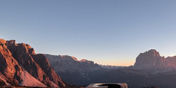 Dolomites UNESCO viewpoint Mastlé - S. Cristina Val Gardena