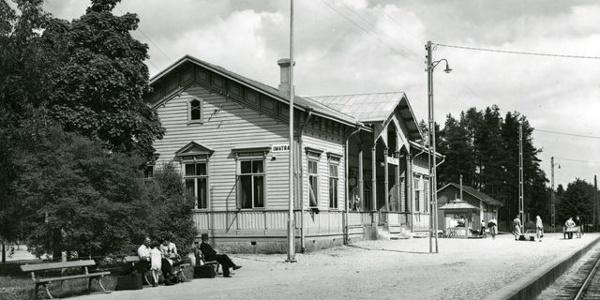 Site 4. Old Imatrankoski railway station area in 1940 - 1949