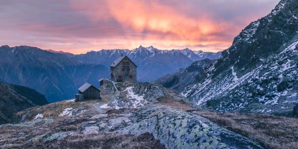 Erlanger Hütte, Sonnenuntergang