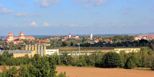 Blick vom Bismarckturm auf Wurzen