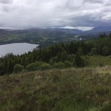 High route looking back to Fort Augustus