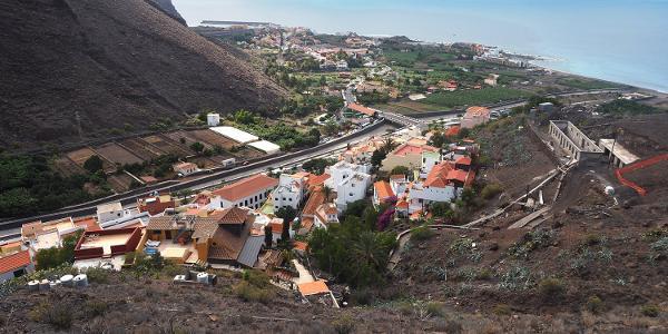Valle Gran Rey: Camino la Mérica: La Calera Blick zur Küste