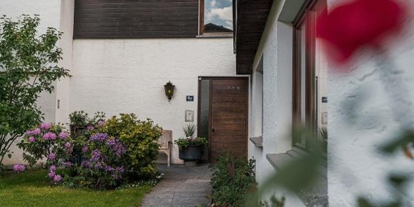 Innenhof-Eingang Ferienwohnung