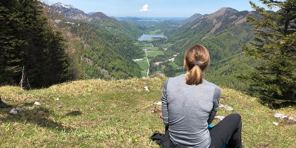 Blick vom Feichtenstein Gipfelkreuz Richtung Hintersee