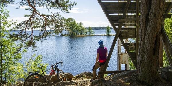 Spectacular view of Kallavesi in Itkonniemi, Kuopio