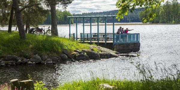 The blue dock of Miettilä