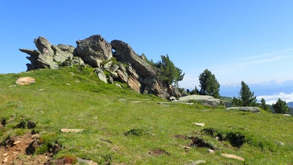 Felsformation beim Aufstieg