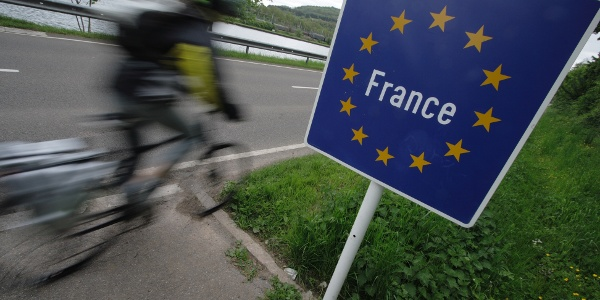 Radweg in Frankreich