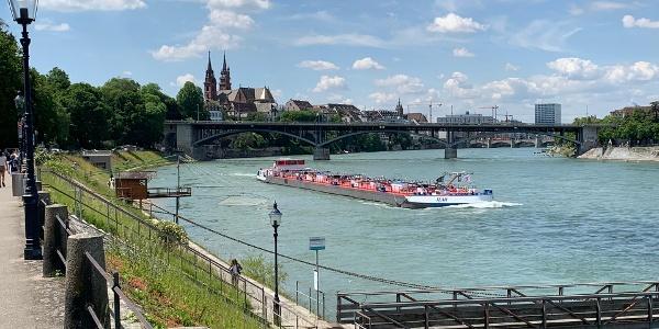 Blick von Birsfelden auf Basel Altstadt