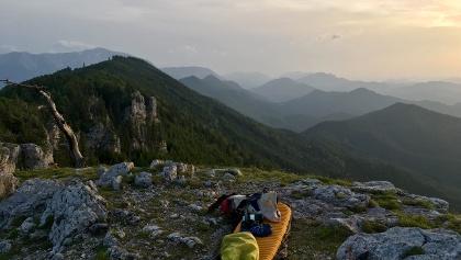 Aussicht vom Plattenstein an der Gauermannhütte