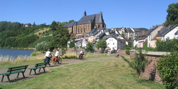Saarfietspad in Saarburg