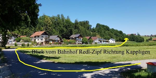 Blick vom Bahnhof Richtung Kappligen.