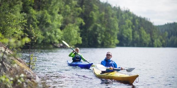 Kayaking on Lake Saimaa