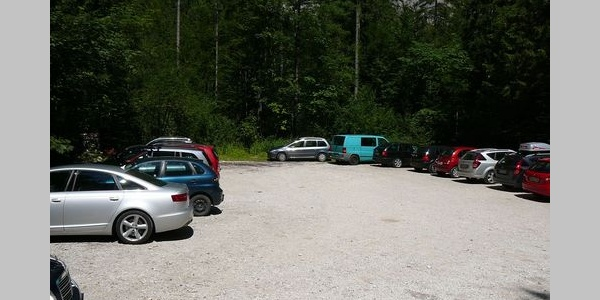 Parkplatz beim Wegpunkt 1