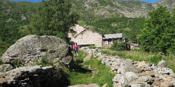 Hinter dem Kuhstall des Argotourismo startet der Weg