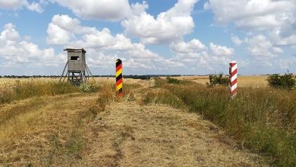 Die deutsch-polnische Grenze hinter Staffelde