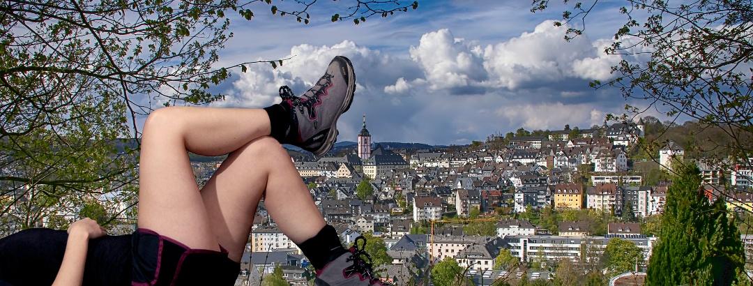 In Siegen liegt der nächste Wanderweg gleich um die Ecke...