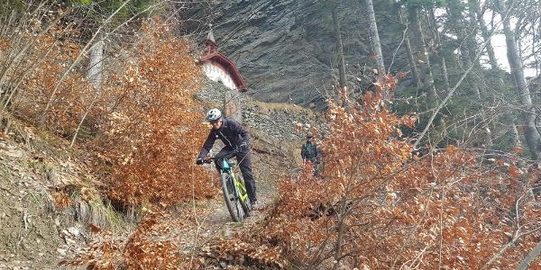 Trail mit St. Luzikapelle