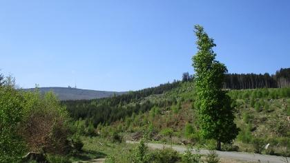 Blick von Norden auf den Brocken