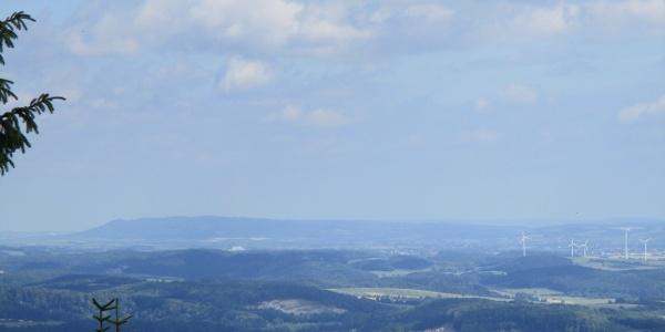 Aussicht vom Ravensberg zum Kyffhäuser