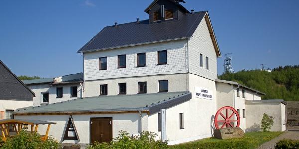 Bergbaulandschaft Ehrenfriedersdorf - Schachthaus Sauberger Haupt- und Richtschacht