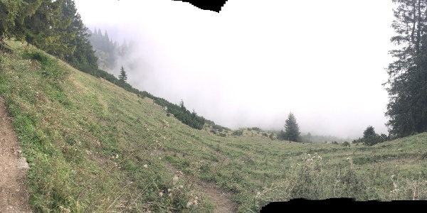 Blick zurück beim Aufstieg auf den Braggstein