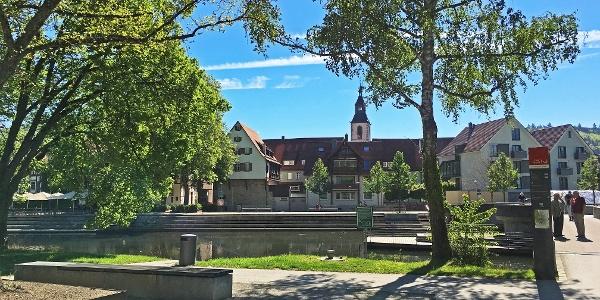 Altstadt Nagold - Sicht vom Kleeb aus