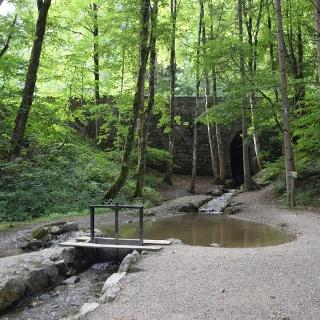 Wasserspielstelle am Auwaldpfad